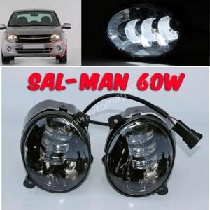 SAL-MAN Фары противотуманные Лада Kalina Калина Лада Granta Гранта Datsun LED 50W 4800LM 2шт гарантия 6 мес