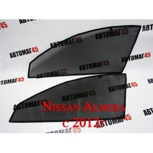 Esco каркасные шторки на магнитах Nissan Almera G15 2012г передние 2шт стандарт 15%