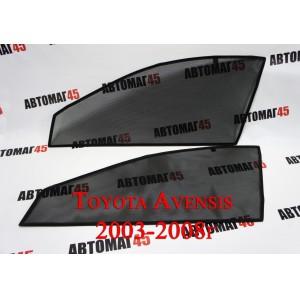 BRENZO каркасные шторки на магнитах Toyota Avensis 2 поколение 2002-2008 передние 2шт станд 10%