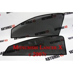 BRENZO каркасные шторки на магнитах Mitsubishi Lancer 10 2007 передние 2шт стандарт 10%