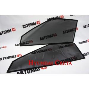 BRENZO каркасные шторки на магнитах Hyundai Creta 1 2016-2022г стандарт сетка передние 2шт 10%