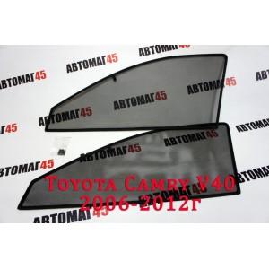 BRENZO каркасные шторки на магнитах Toyota Camry V40 2006-2012г стандарт сетка передние 2шт 10%