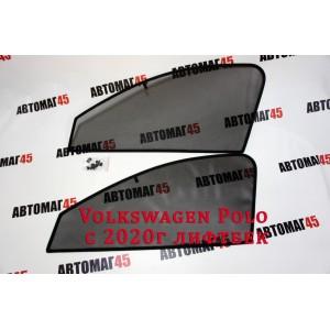 BRENZO каркасные шторки на магнитах Volkswagen Polo лифтбэк с 2021г передние 2шт стандарт 10%