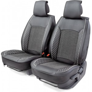 Car Performance накидки универ каркасн на перед-е сиденья экокожа черн центральн вставка с плетением