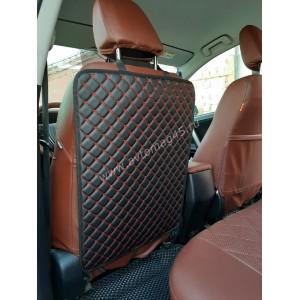 Защита заднего сиденья экокожа черная 63х48см