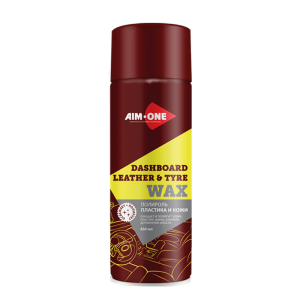 AIM-ONE Полироль пластика и кожи аэрозоль 450мл