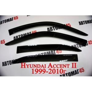 ANV-Air дефлекторы окон Hyundai Accent 2000-2011г комплект 4шт