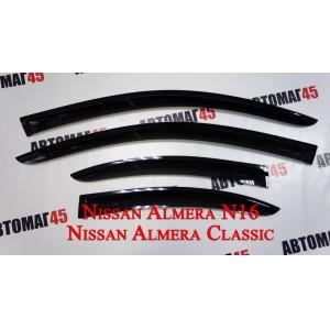 ANVair дефлекторы окон Almera Classic 2006-2012г Almera N16 2000-2006 Bluebierd Sylfi Sunny 16 c 2000г комплект 4шт