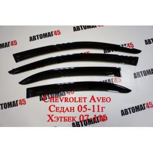 ANVair дефлекторы окон Chevrolet Aveo седан 2006-2012г Rаvon R3 Nexia 2015 комплект 4шт