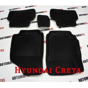 BORATEX коврики в салон 3D EVA Hyundai Creta черные рисунок ромб комплект 4шт