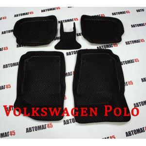 BORATEX коврики в салон 3D EVA Volkswagen Polo Sedan черные рисунок ромб комплект 4шт