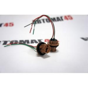Разъем T20 W21/5W 7443 2 контакта  пластиковый поворотный с проводами