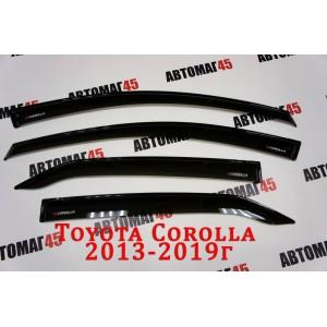 VAD дефлекторы окон Toyota Corolla c 2013-2019г комплект 4шт