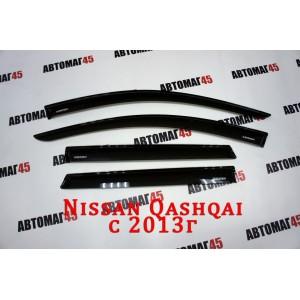 VAD дефлекторы окон Nissan Qashqai c 2014г комплект 4шт