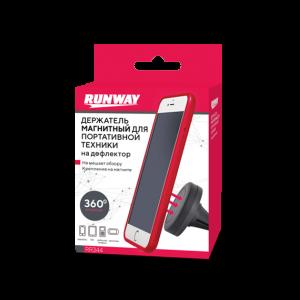 Runway держатель телефона и планшета на дефлектор магнитный черный