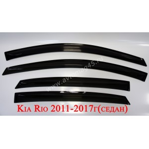 ANVair дефлекторы окон KIA Rio седан 2011-2017г комплект 4шт