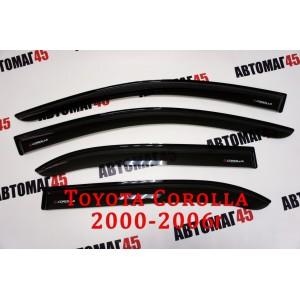VAD дефлекторы окон Toyota Corolla седан 2000-2006г комплект 4шт