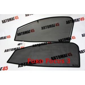 BRENZO каркасные шторки на магнитах Ford Focus 3 передние премиум 2шт 15% акция