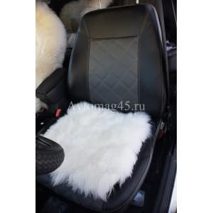 PSV Extra Накидка-подушка на сиденье длинный ворс белый 45х45см