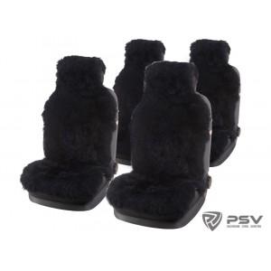 PSV Jolly Extra Накидки на сиденье длинный ворс черный 140x50 комплект 5шт