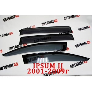 BAIKS дефлекторы окон Toyota Ipsum 2001-2007г комплект 4шт