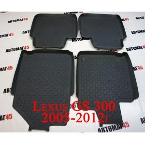 Ковры Lexus GS300 2005-2012г комплект 4шт серые