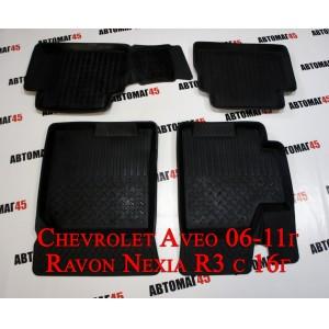 Коврики в салон Chevrolet Aveo 2007-2012г комплект 4шт