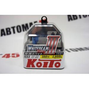 KOITO лампа WhiteBeam3 Н11 12V 55W 4000K 2шт