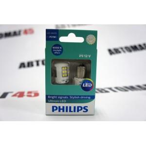 Philips лампа светодиодная P21W 12V 21W 6000K 2шт