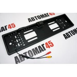 CAR PROFI Универсальная камера заднего вида в рамке номерного знака HX-EU08 LED HD парковочные линии диодная подсветка 3 мес гарантия