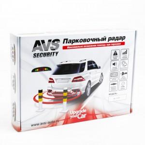 AVS Парктроник цветной светодиодный дисплей с цифровым табло PS-124U 4 датчика D 22мм черный