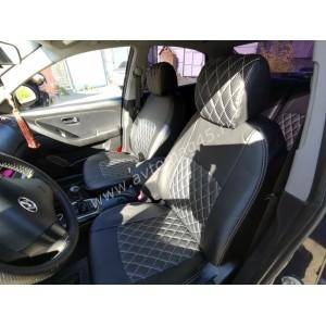 Авточехлы Hyundai Elantra IV поколение 2006-2011г экокожа черная ромб