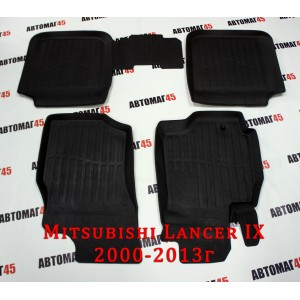 Коврики в салон Mitsubishi Lancer IX 2001-2012г комплект 4шт