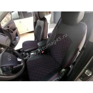 Авточехлы Hyundai Creta с 2016г экокожа алькантара черная ромб