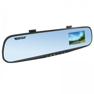 Artway AV-610HD видеорегистратор в зеркале заднего вида камера HD30к/сек угол 90 экран 10 гарантия 1 год