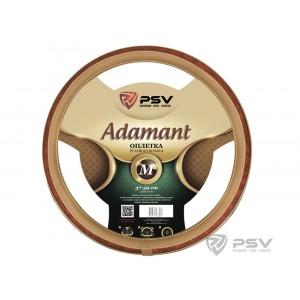 PSV Adamant Prestige оплетка руля экожа бежевая вставка под дерево размер М