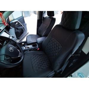 Авточехлы Toyota RAV4 с 2012г экокожа черная ромб