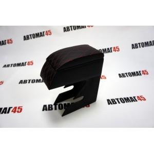 Подлокотник ВАЗ 2113-14-15 черный ромб экокожа эко