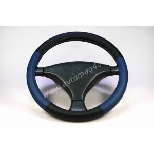 IGG 304 оплетка руля экокожа черный синий